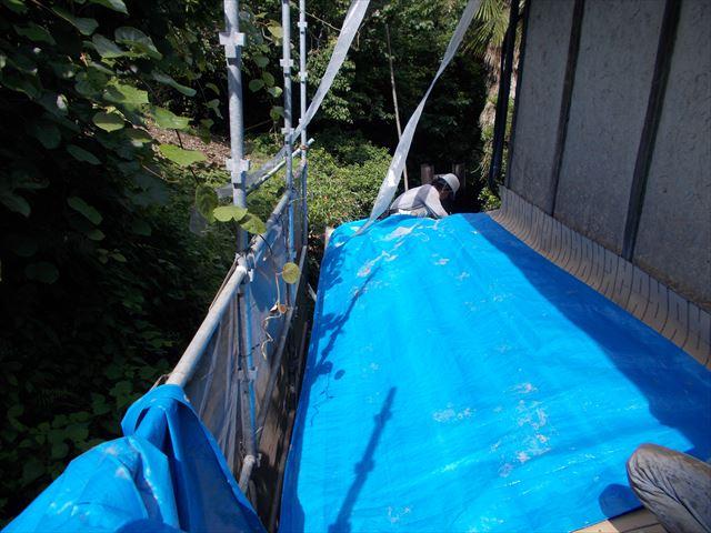 屋根工事 屋根リフォーム 防水シートブルーシート