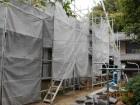 岡山県久米南町 屋根工事 雨漏り修理 養生足場完成