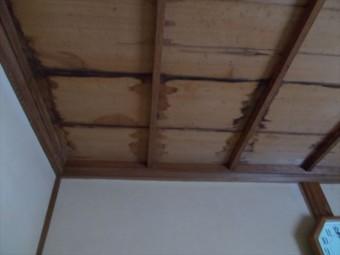 岡山県玉野市 屋根工事 雨漏り修理 天井に大きなシミ
