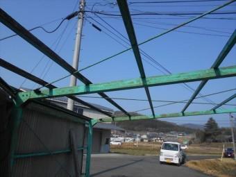 岡山市東区カーポート波板工事