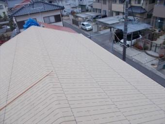 岡山市北区 屋根工事 雨漏り跡
