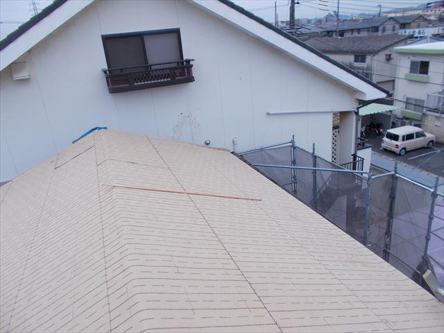 岡山市北区 屋根工事 破れない下葺き材の防水紙(ルーフィング)