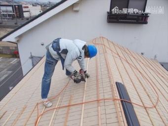 岡山市北区 屋根工事 瓦残打ち付け