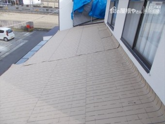 岡山市北区 屋根工事 防水紙