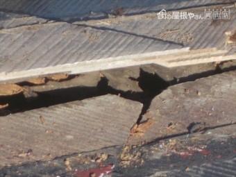 岡山市中区 屋根リフォーム工事 カバー工法 棟板金の下地