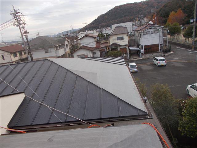岡山市中区 カバー工法2階の施工
