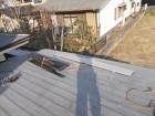 岡山市中区 カバー工法カラーベストコロニアルに直貼り