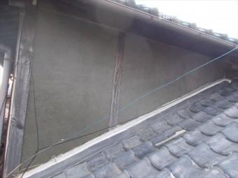 岡山市北区 雨漏り修理 モルタル壁下塗り