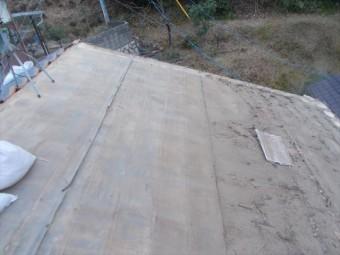 玉野市 瓦撤去後の下地の状態