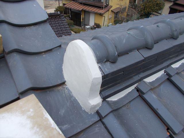 玉野市で屋根修繕 漆喰工事