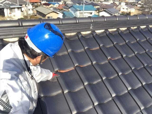 岡山市北区 屋根修理 点検模様