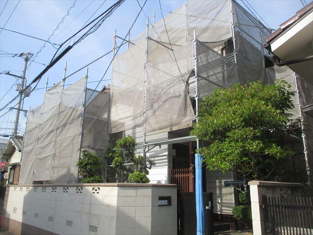 岡山市北区外壁塗装/塗装工事の仕上がりにも影響する養生の重要さ