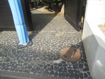岡山市北区 外壁塗装 玄関廻り