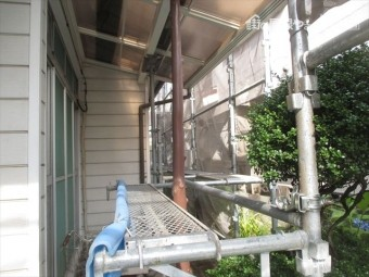 岡山市北区 屋根工事 雨漏り修理 足場工事