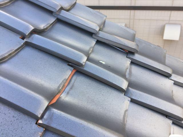 岡山市北区 屋根修理 点検模様 瓦ズレ