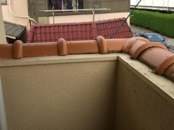 岡山市北区 屋根工事 丸瓦の釘