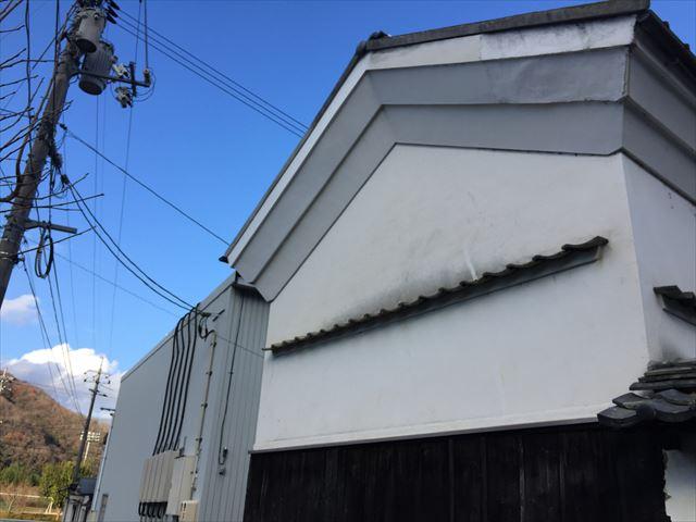 吉備中央町 蔵の屋根補修工事