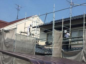 岡山市南区 屋根工事 屋根リフォーム 2階の足場撤去