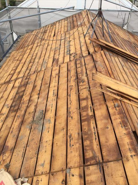 岡山市南区 屋根工事 屋根リフォーム 雨漏り修理 屋根葺き替え 防水紙撤去