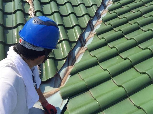 岡山市中区で丁寧な仕事で雨漏りがストップし大満足されたお客様