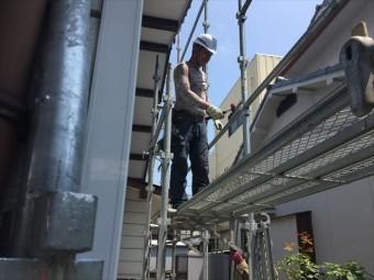 岡山市北区 屋根工事 屋根リフォーム 足場工事