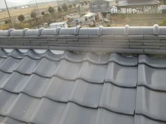 岡山市南区 屋根補修工事 漆喰入れ替え工事