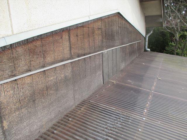 岡山市南区 焼き板補修