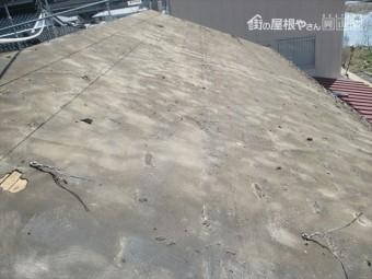 新見市 セメント瓦を撤去した状態