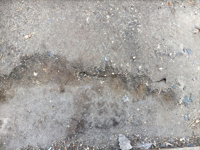 岡山市南区 屋根工事 屋根葺き替え工事 防水紙雨漏り跡