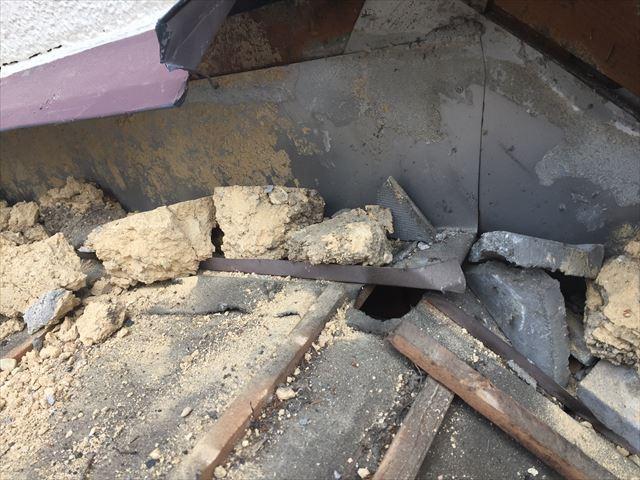 岡山市南区 屋根工事 屋根リフォーム 防水紙施工不良