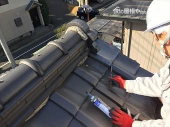 岡山市北区 屋根工事 瓦差し替え
