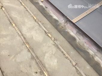 岡山市北区 屋根工事 屋根リフォーム 防水紙の状態