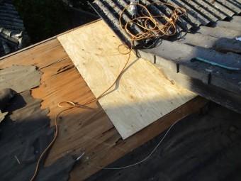 倉敷市 雨漏り修理 下地補修