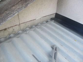 倉敷市 雨漏り修理 スレート取り替え 雨押え板金