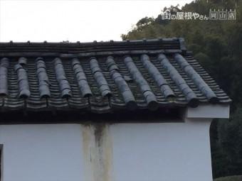 岡山市東区 蔵の屋根修理、野地板補修