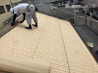 岡山市北区 屋根工事 雨漏り修理 防水シート張り