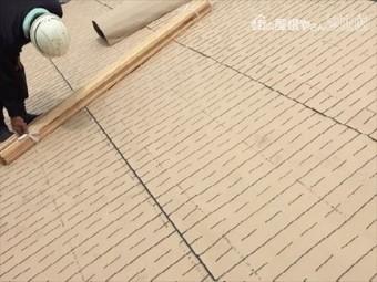 倉敷市 下葺き材の防水紙ルーフィング