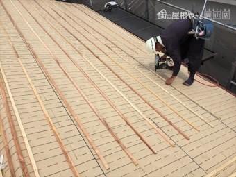 岡山市北区 屋根工事 屋根リフォーム 桟木うち