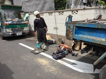 岡山市北区 屋根工事 屋根リフォーム タワー解体