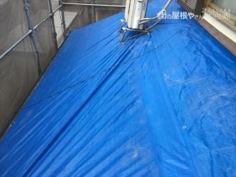 岡山市南区 屋根工事 雨漏り修理 ブルーシート張り