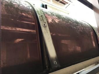 岡山市南区 カーポートの屋根修理 アクリル板取り外し