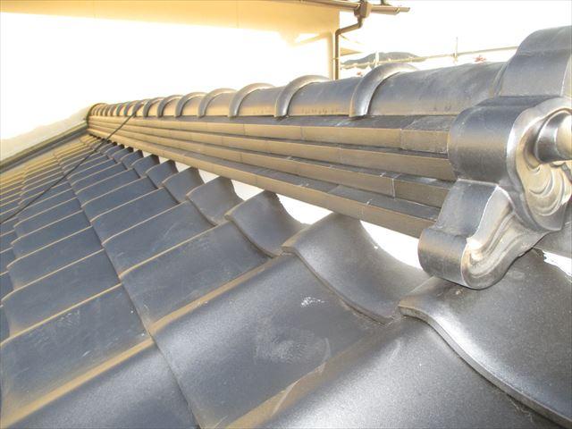 備前市で防災瓦で屋根工事行ってます。地震、台風に強い屋根材です