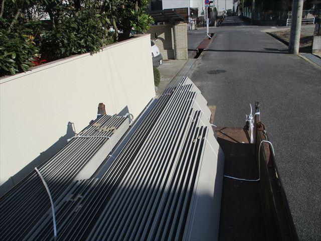 岡山市中区 材料搬入