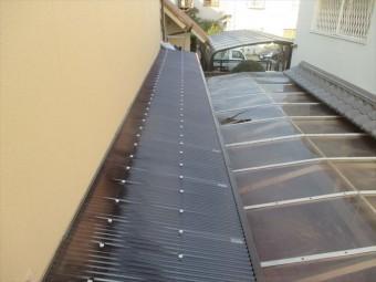 岡山市南区 屋根工事 ポリカ張り替え