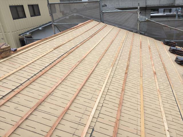 岡山市北区 屋根工事 屋根リフォーム 桟木うち工事