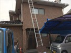 倉敷市雨漏り修理。寄棟の2階建てS型の瓦で伏せ替えの点検です。