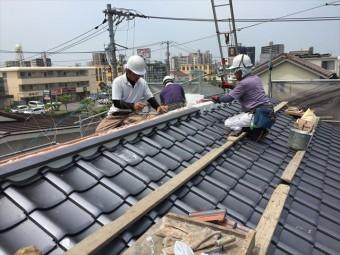 岡山市北区 屋根工事 屋根リフォーム 熨斗つき