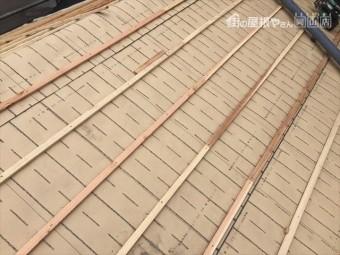 岡山市南区 屋根工事 雨漏り修理 桟木打ち付け