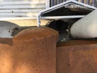 岡山市中区雨樋掃除