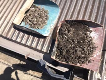 岡山市南区で樋掃除